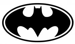 Logotipos de superheroes en blanco y negro