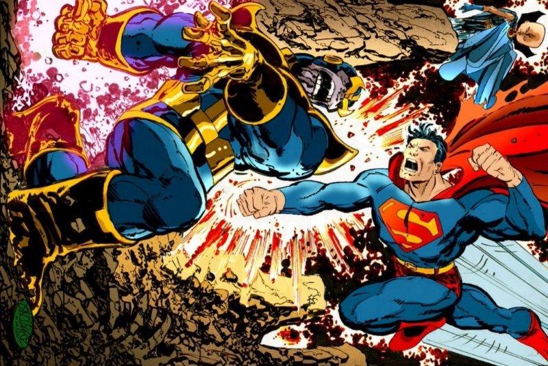 superman prime vs thanos infinity