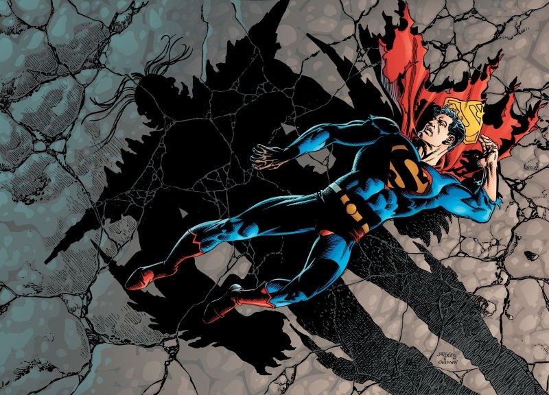 superman vs tanos batalla