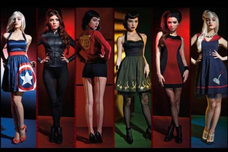 ropa de superheroes de marvel para mujer
