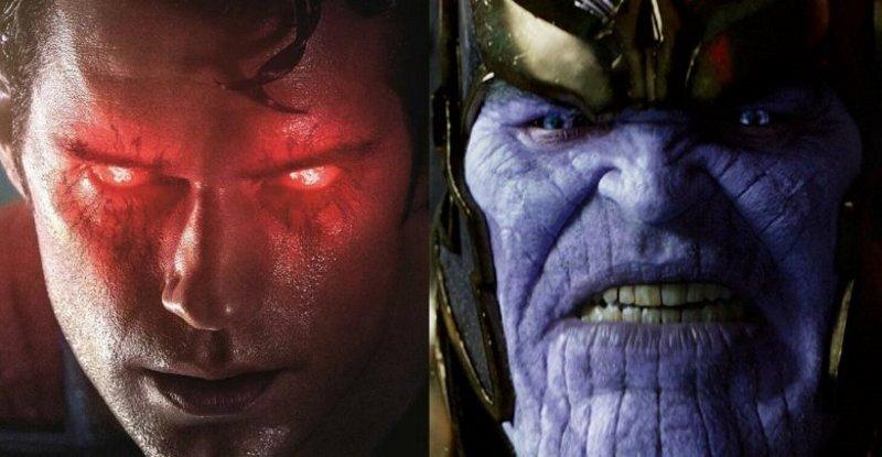 superman vs thanos lucha